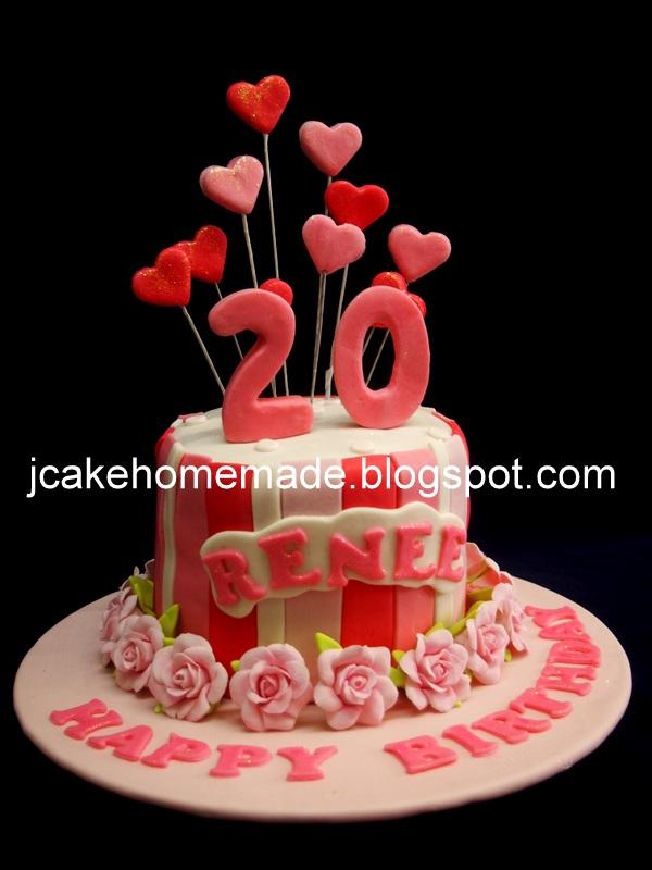 Wondrous 20Th Birthday Cake Happy 20Th Birthday Renee Thanks Anna Flickr Personalised Birthday Cards Paralily Jamesorg
