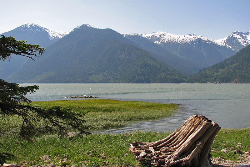 Bella Coola fjord, Bella Coola, Coastal British Columbia, Canada