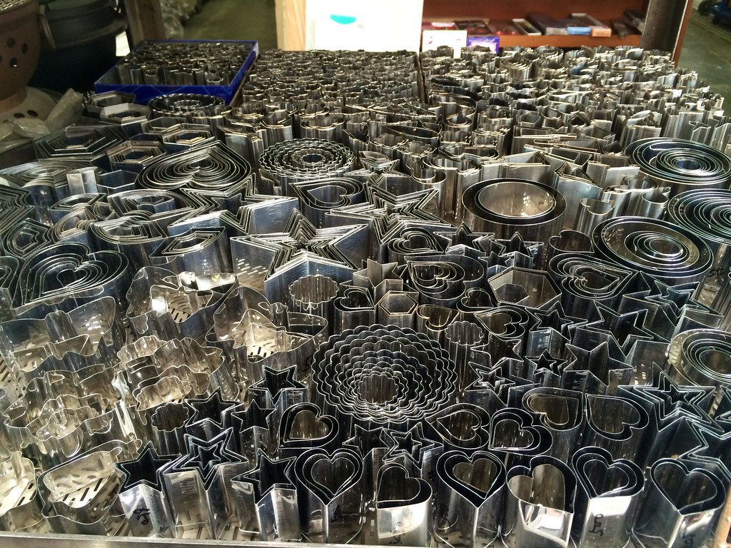 Largest collection of cookie cutters I've ever seen at a japanese kitchenware shop.