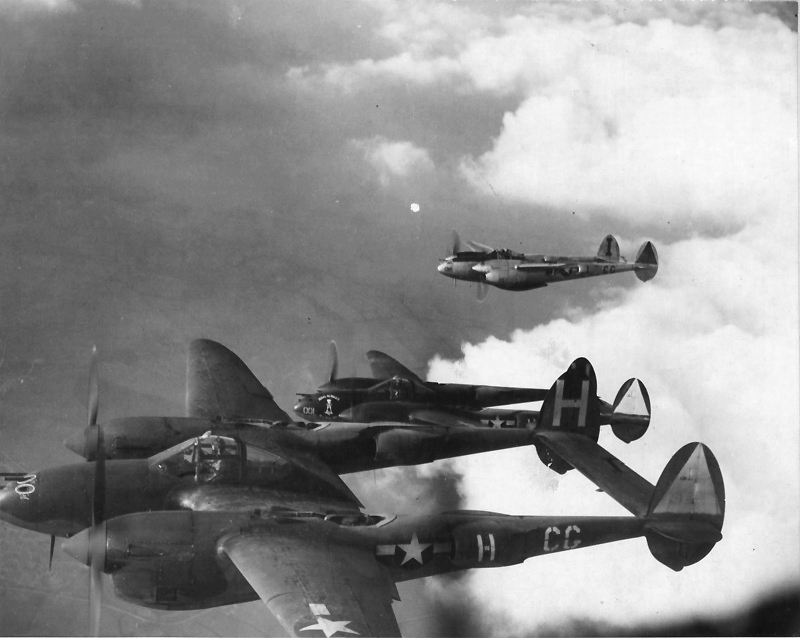American fighters P-38H «Lightning» (Lockheed P-38H Lightning