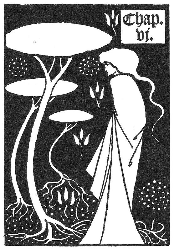 Aubrey Beardsley - Chapter heading for Le Morte d'Arthur