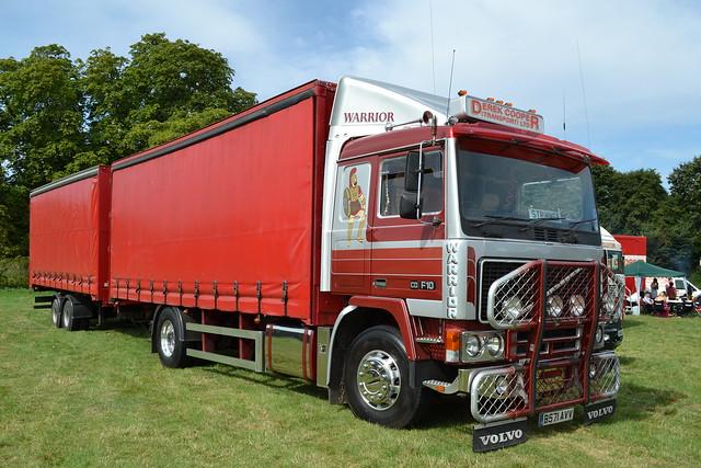 Volvo F10 'Derek Cooper Transport Ltd' reg B571 AVV