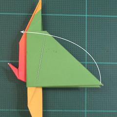 วิธีพับกระดาษเป็นรูปนกแก้ว (Origami Parrot) 028