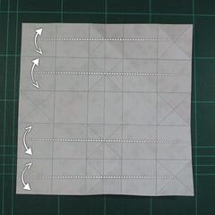 วิธีพับกล่องของขวัญแบบมีฝาปิด (Origami Present Box With Lid) 014