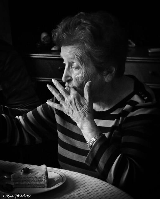 Adrienne, grandma. 89 years old. Now 99.