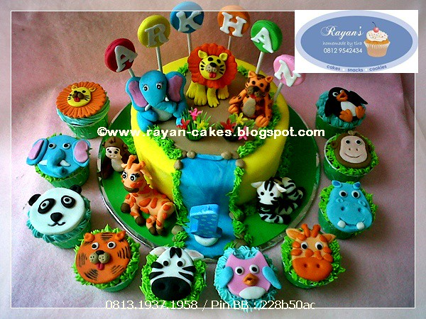 Wondrous Animals Jungle Themed Birthday Cake Fondant By Rayan Cakes Flickr Funny Birthday Cards Online Chimdamsfinfo