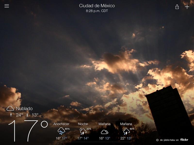 Clima en MX DF.