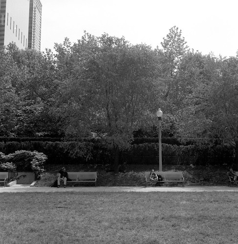 """Image titled """"Benches, Chicago."""""""