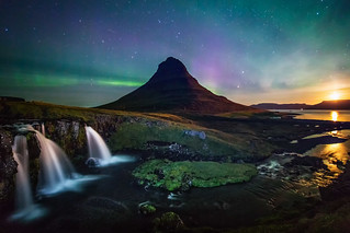 Kirkjufell northern lights | by greenzowie