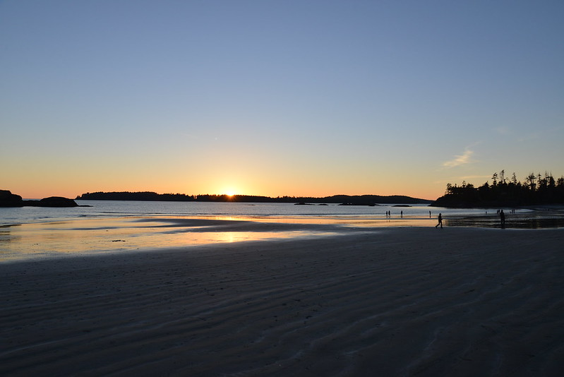 Sunset Tofino Beach on Vancouver Island