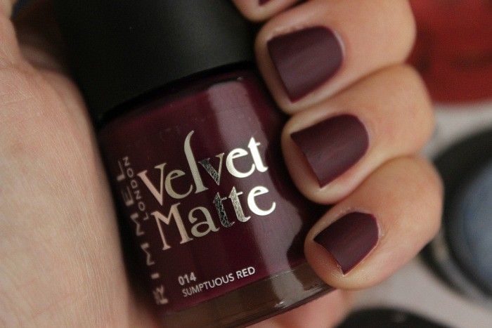 Rimmel Velvet Matte Nail Polish in 014 Sumptuous Red 1 | Flickr