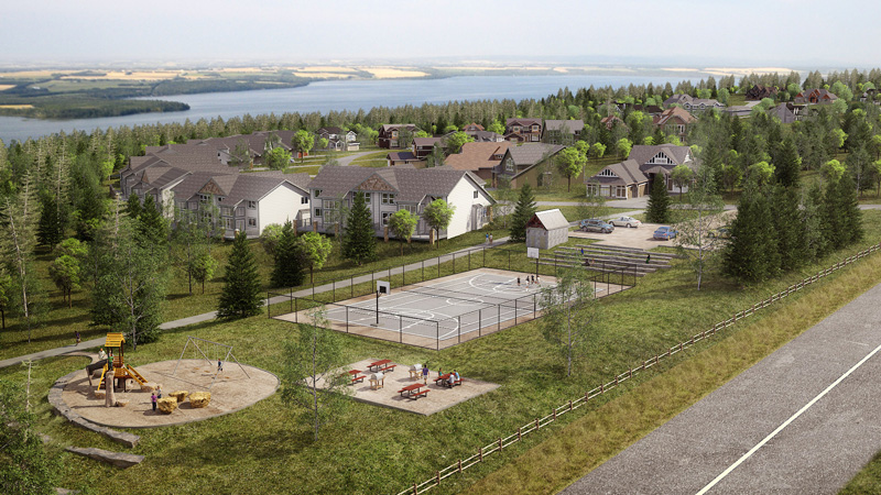 Rendering - amenities at the Slopes