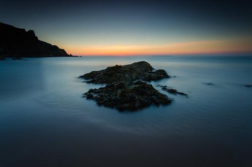 sunset beach bay nikon rocks long exposure little sigma le lee nd jersey 1020mm grad stopper plemont d7000 printed6x4 pwpartlycloudy