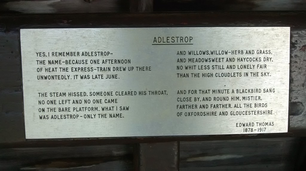 Edward Thomas on Adlestrop Edward Thomas's ode to Adlestrop