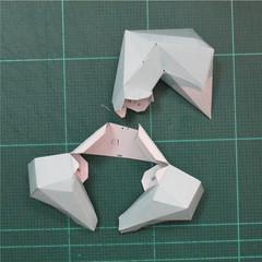 วิธีทำโมเดลกระดาษคุกกี้รันจิ้งจอกเก้าหางในร่างหมาจิ้งจอก (Cookie Run Ninetails Fox Form Papercraft Model) 016