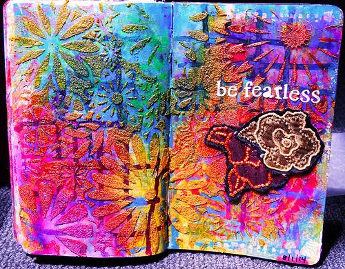 art journal - be fearless