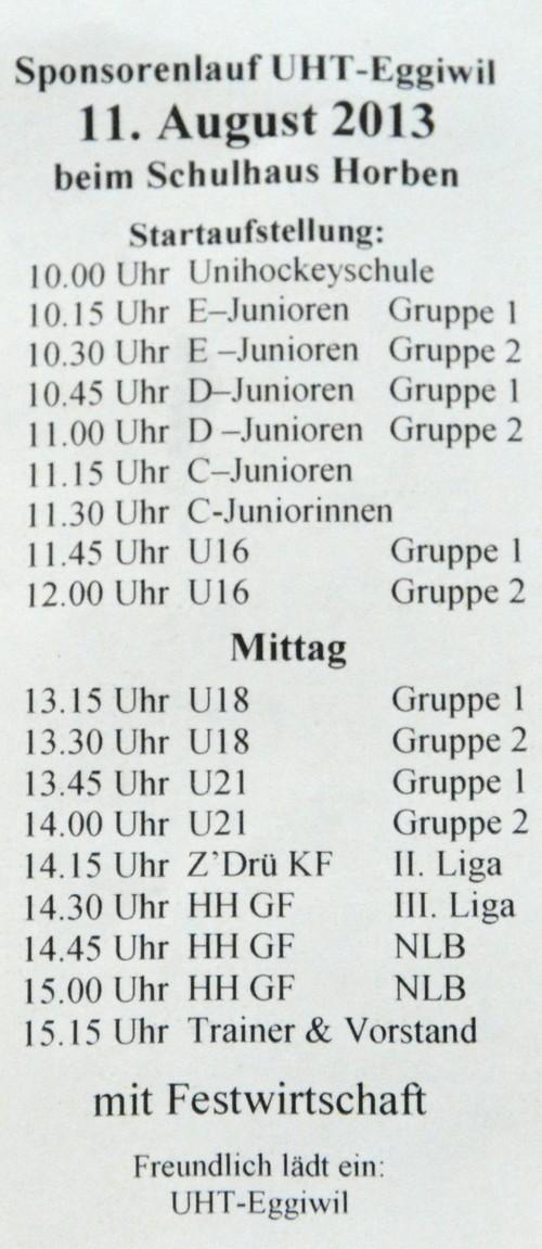Verein - Sponsorenlauf Saison 2013/14