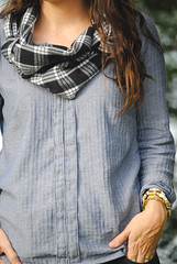 Chambray Top and Commuter Cowl