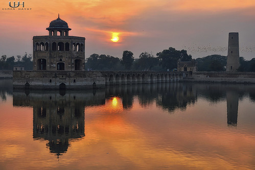 pakistan sunset sky orange nikon nikkor lahore minar hayat d800 usman hiran sheikhupura d7000