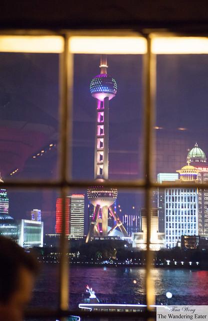Looking toward the Oriental Pearl Tower