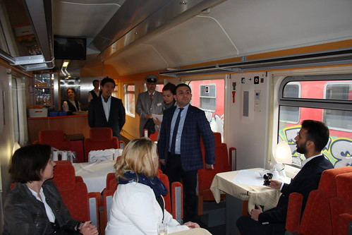 RZD press conference in Moscow - Paris restaurant car