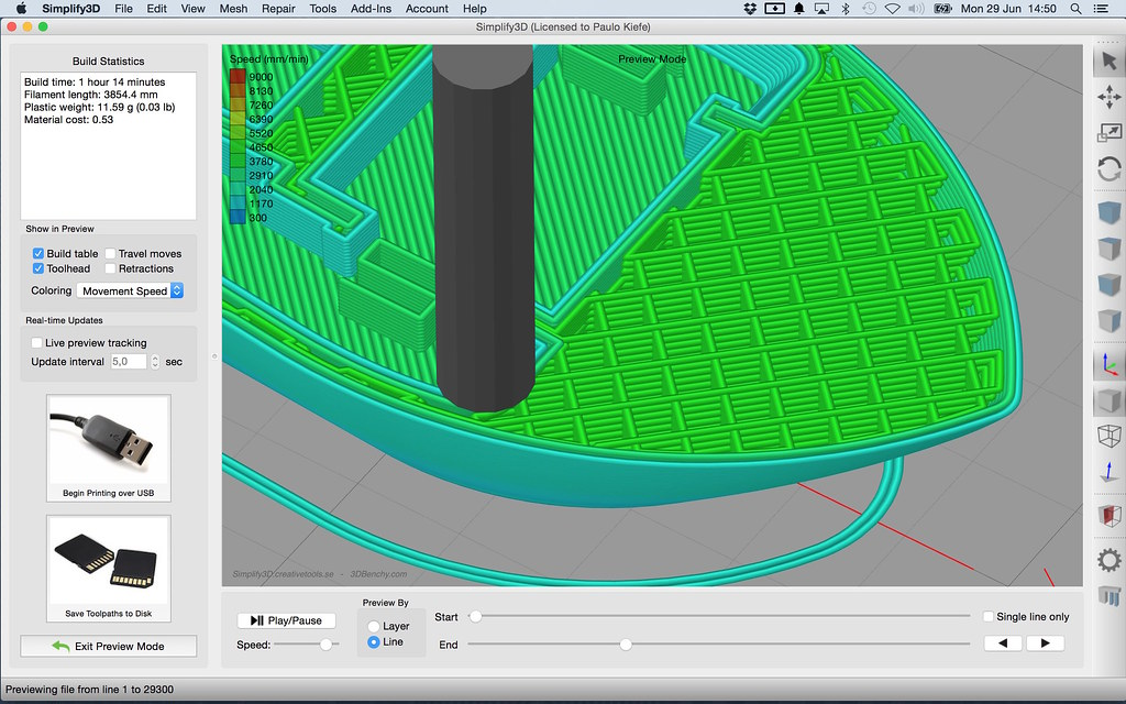 3DBenchy in Simplify3D 3 0 User Interface - Gcode colorin…   Flickr