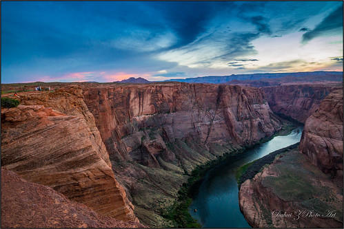 sunset vacation arizona williams unitedstates coloradoriver horseshoebend pagearizona canonef24105mmf4isusm canoneos6d summer2015 馬蹄灣