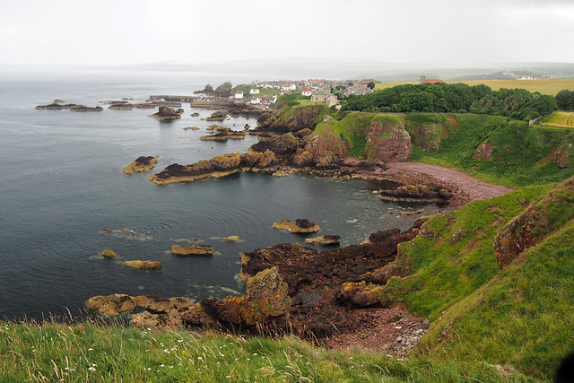 View to St Abbs in the Scottish Borders