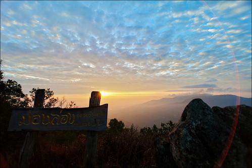 doimoncham moncham peak clouds sky sunrise mountains outdoor chiangmai thailand