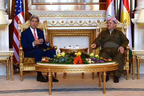 Secretary Kerry Addresses Reporters Before Meeting With Kurdistan Regional Government President Barzani in Iraq   by U.S. Department of State