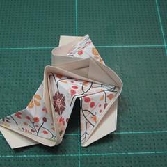 วิธีการพับลูกบอลกระดาษญี่ปุ่นแบบโคลเวอร์ (Clover Kusudama)013