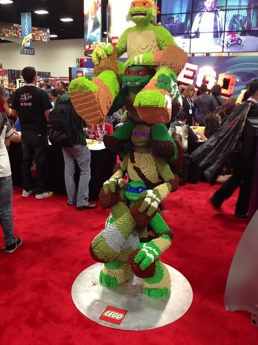 Full-scale LEGO Ninja Turtles