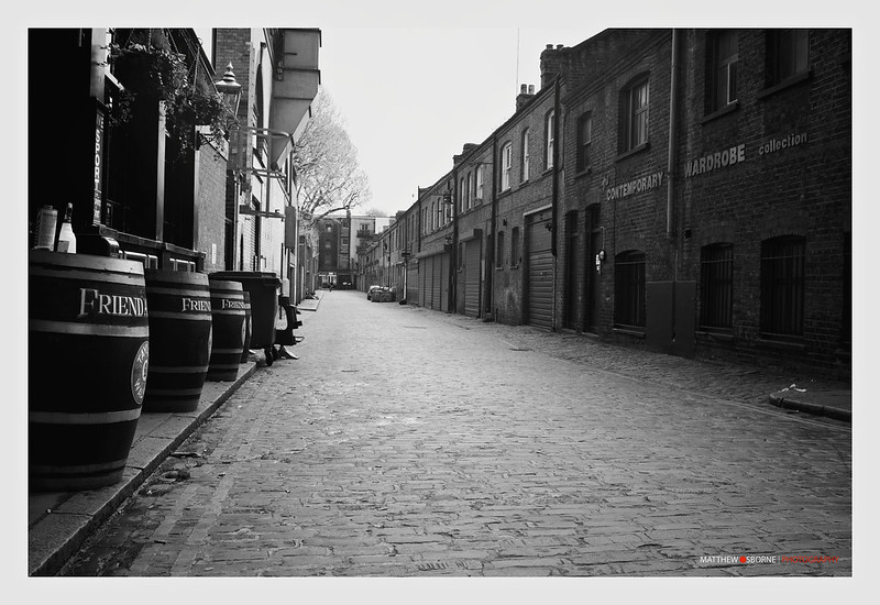 Vintage London Street Black and White
