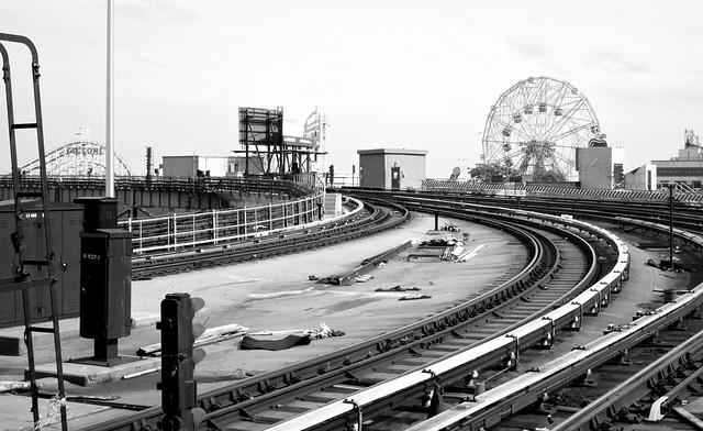 Coney Island Terminal B/W view