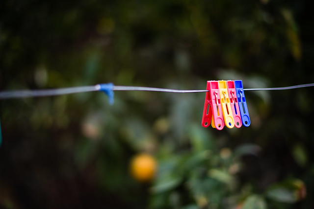 colorful clothes hanging