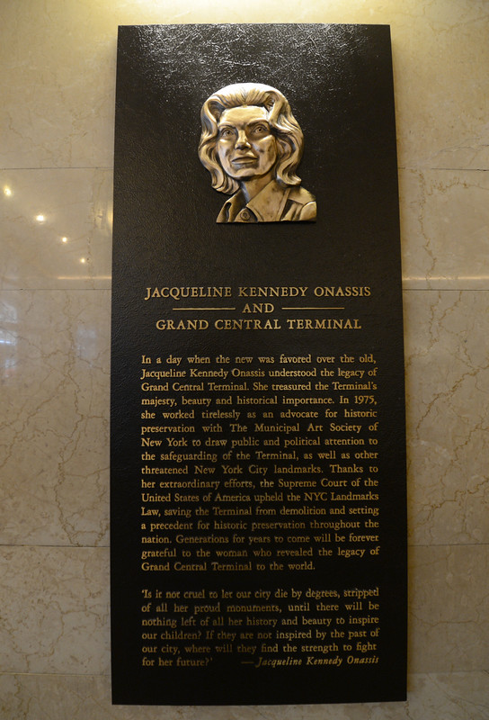 Jacqueline Kennedy Onassis Grand Central Entry Dedication