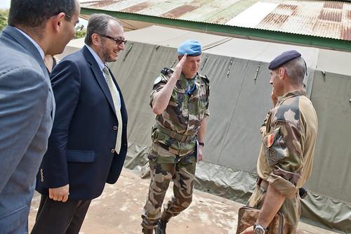 UN Department of Peacekeeping Operations meets the French military Operation Sangaris in Bambari in Central African Republic | by Mission des Nations Unies en RCA