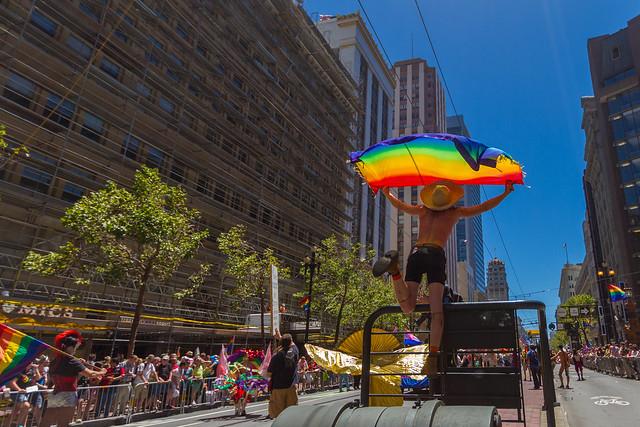 SF Pride Parade 2014: grainy bathtub