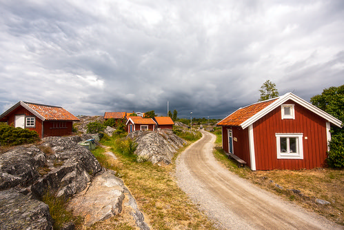 little red cottages on the hillside | by Eora Borealis