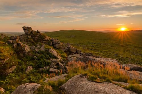sunset outdoors countryside rocks granite goldenhour westcountry bodminmoor rockformation sharptor