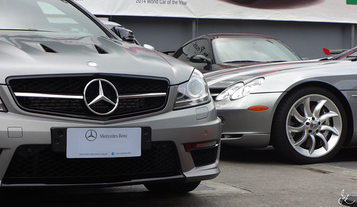 Mercedes-Benz C 63 AMG and Mercedes-Benz SLR McLaren Roadster | by Justin Young Photography