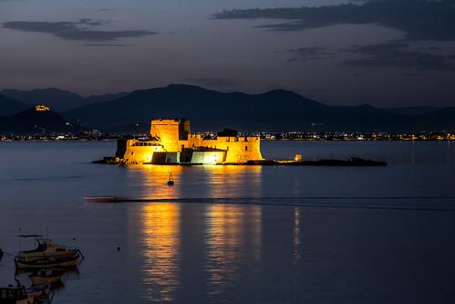 castle greece nafplion bourtzi argolis