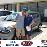 #HappyAnniversary to Donald Baldwin on your 2013 #Kia #Soul from Andrew Gomes at Huffines KIA Denton!