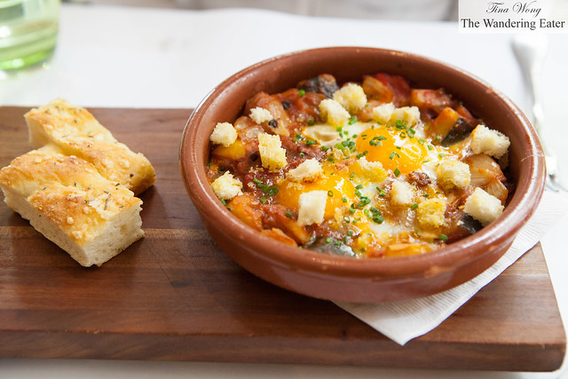Ratatouille and Oeuf Mollet