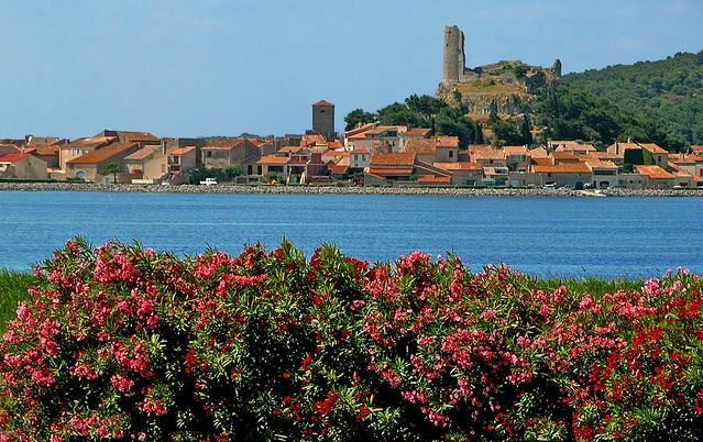 FRANCE - Gruissan (Old village) and Barberousse tower and Laurel