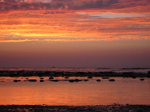 sunset shimane hamada