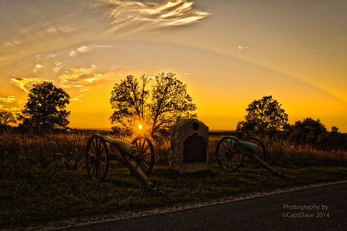 12-Pounder Napoleon's Hancock Ave Gettysburg, PA Sunset HDR 6X4