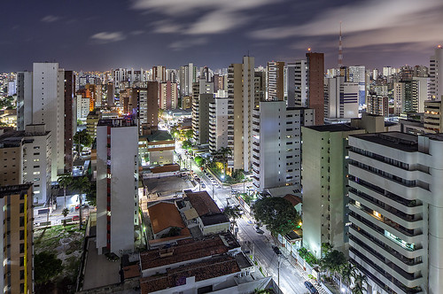 fortaleza brazil brasil night skyscrapers aerial view