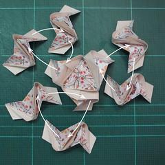 วิธีการพับลูกบอลกระดาษญี่ปุ่นแบบโคลเวอร์ (Clover Kusudama)018