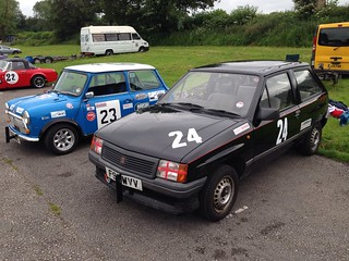 1984 Austin Mini and 1989 Vauxhall Nova   by elstro_88
